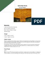 Butt-erfly Shorts Crochet Pattern