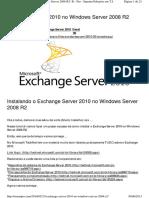 Instalar Exchange Server 2010