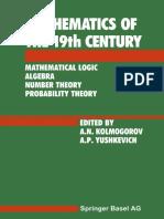 Z. A. Kuzicheva (auth.), A. N. Kolmogorov, A. P. Yushkevich (eds.)-Mathematics of the 19th Century_ Mathematical Logic Algebra Number Theory Probability Theory-Birkhäuser Basel (1992).pdf