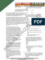 Kinematics FREE WORKSHEET/QUESTION BANK BY ANURAG TYAGI CLASSES (ATC)