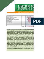 Ejercicio Excel Costo Beneficio