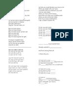 Yiddish Lyrics, German Translation Practice