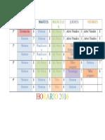 horario 2016