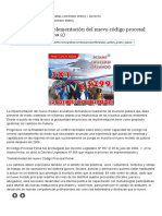 Comentarios a La Implementación Del Nuevo Código Procesal Penal Peruano (Página 2) - Monografias