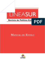 Manual de Estilo Revista de Geopolítica