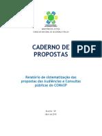 Caderno de Propostas - reestruturação CONASP