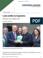 Lula Confia No Supremo — Conversa Afiada
