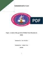 Public Trust Doctrine in India