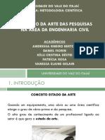 O ESTADO DA ARTE DAS PESQUISAS NA ÁREA DA ENGENHARIA CIVIL