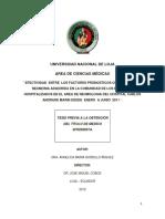 Efectividad Entre Los Pronosticos Curb 65 y Fine en Pcts Con Nac