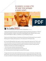 Rajapaksa Released 12,000 Ltte Carders, Why Are You Afraid Sampanthan Asks Govt.