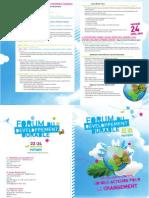 Programme du Forum du développement durable - Poitiers, avril 2010