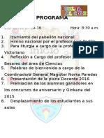 Programa Apertura San Marcelo 2016