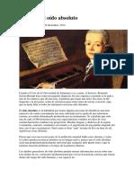 Mozart y El Oído Absoluto
