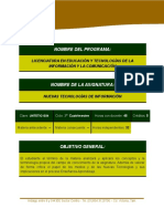 PROGRAMA LETIC Nuevas Teconologías de Información