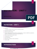 introduction to Nutrition Unit I