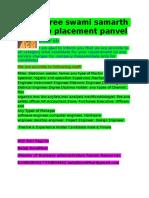 Shree Swami Samarth Job Placement Profile