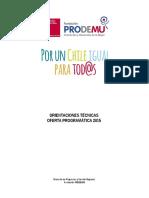 Dcto Orientaciones Técnicas 2015