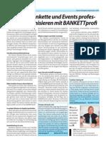 Zeitungsbericht BANKETTprofi
