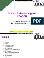 Golden Rules for a Good Leader