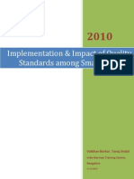 Implementation & Impact of Quality Standards among Small Industry