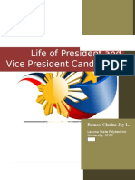 Vice and Presidential Candidates