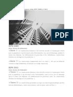 Classement Des Bâtiments Selon RPS 2000 Et 2011