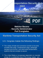 Vessel and Terminal Requirements