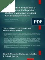 Organele Statale Ale Relațiilor Și Politicii Externe Din