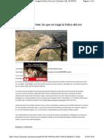 Saqueo y Daño Ambiental Minas Oro Colombia
