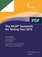 MCAT Essentials 2016 - Final