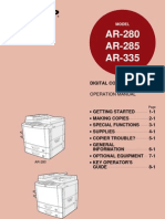 sharp digital copying machine-model AR-280,AR285,335 Op Man 1