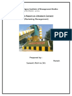Marketing Project Report- ultratech cementFinal
