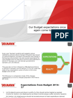 Our Budget Expectations Once Again Come to Fruition