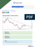 Forex Daily Forecast - 10 Mar 2016 BlueMax Capital