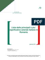 Elenco Delle Principali e Piu' Significative Aziende Italiane in Romania
