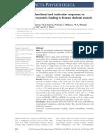 Franchi Et Al,2014 Acta Physiol - Concêntrico vs Excêntr Ico