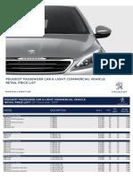 Peugeot Price List