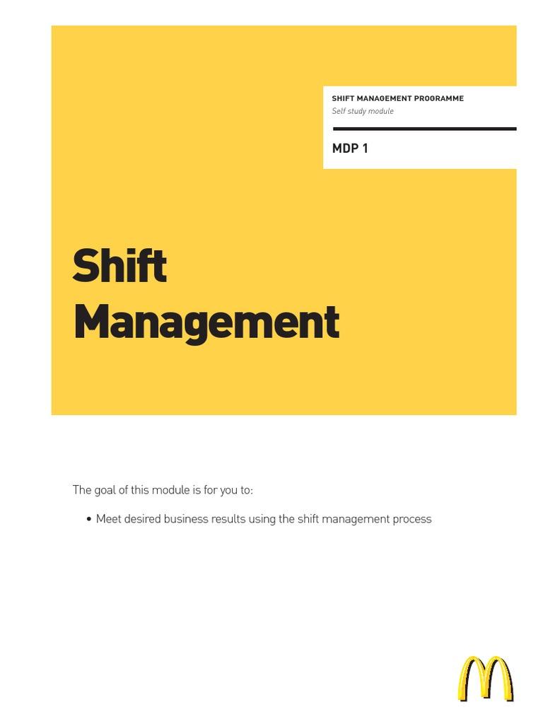 mcdonalds shift management mc donald s employment rh scribd com mcdonald's training manual pdf McDonald's Register Training