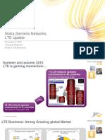 Nokia Siemens Networks-LTE Update - Dec 2010