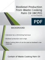 Biodiesel Production From Waste Cooking Palm Oil