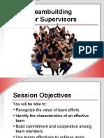 Teambuilding for Supervisors