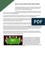 Tips Memprediksi Kartu Lawan Ketika Main Poker Online