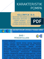 Karakteristik Pompa
