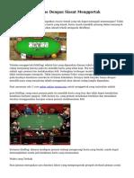 Teknik Poker Online Dengan Siasat Menggertak