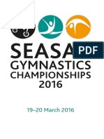 SEASAC Gymnastics Championships Schedule 2016 - 19 to 20 March 2016