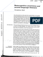Goh C 1997 Metacognitive Awareness and Second Language