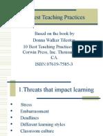 PROFESIONALISME GURU- 10 BEST TEACHING PRACTICES