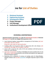 List of Duties