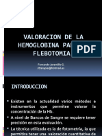 Valoracion de Hb Para La Flebotomia